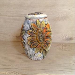 Sunflower Covered Urn