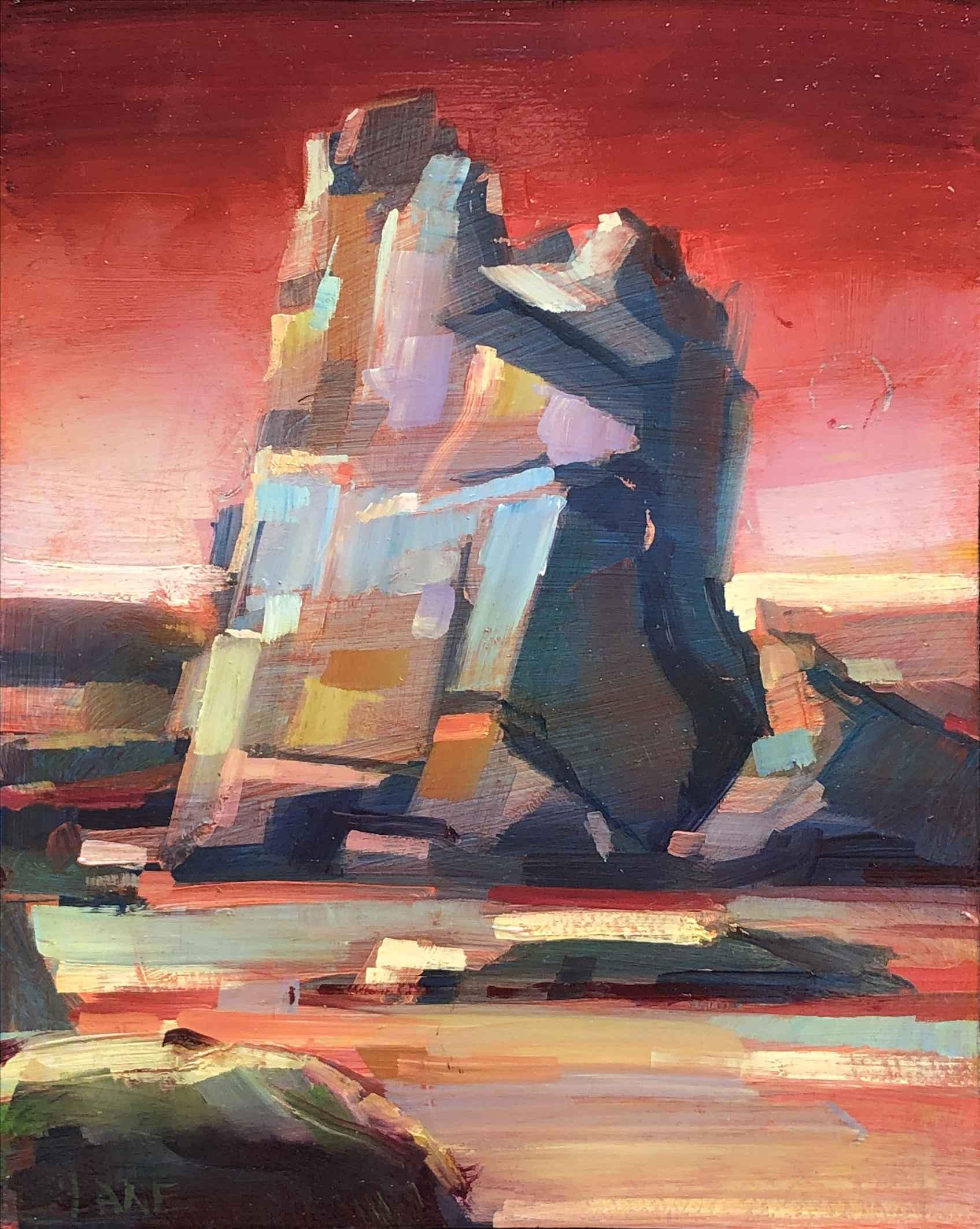 Castle Rock, Sunset by Mr. Lane Bennion - Masterpiece Online