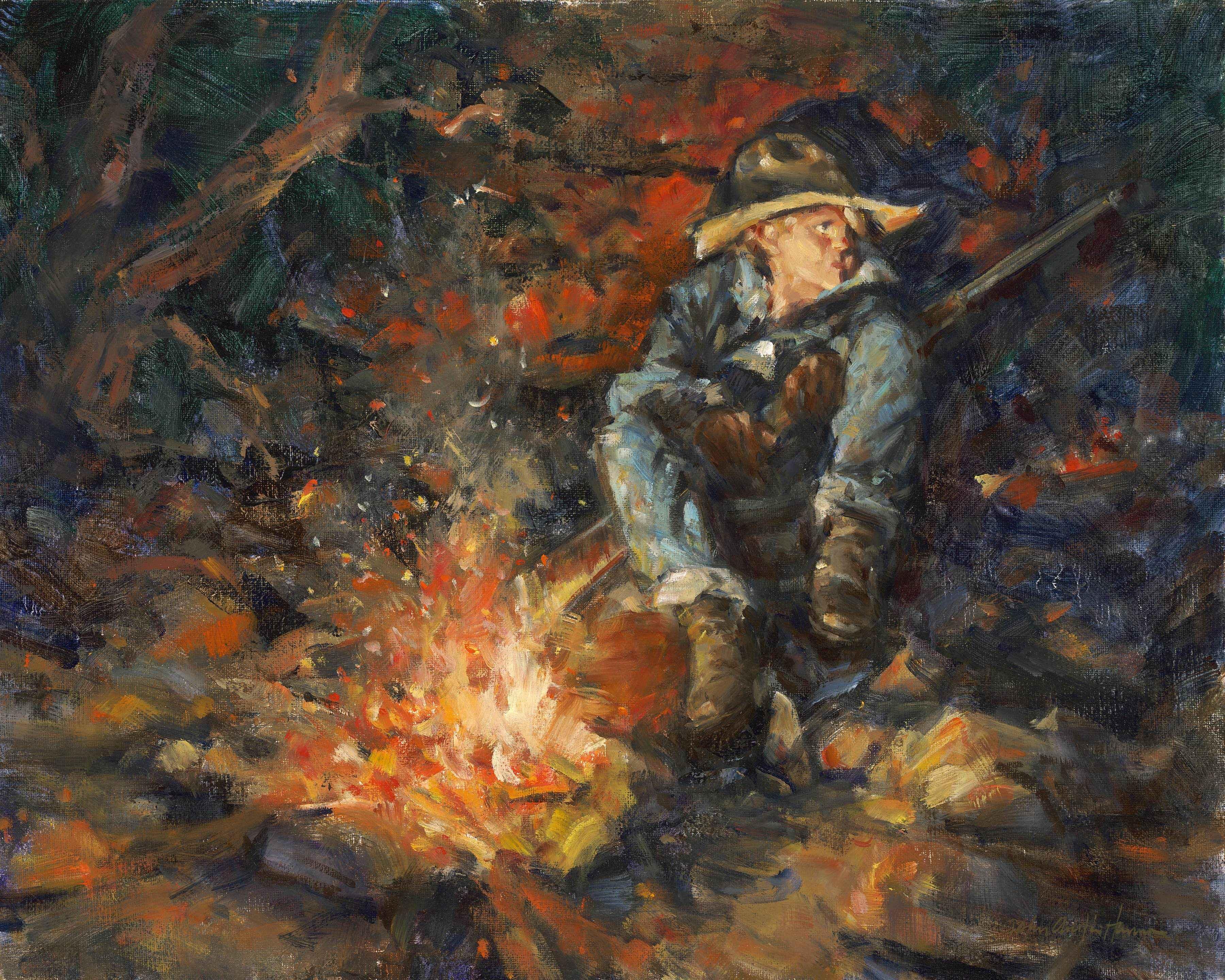 Grandfather's Rifle by  John Austin Hanna - Masterpiece Online