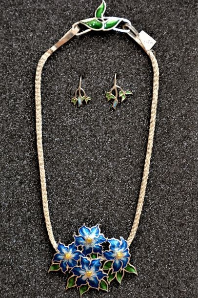 Silver Necklace & Ear... by  Kristin Anderson - Masterpiece Online