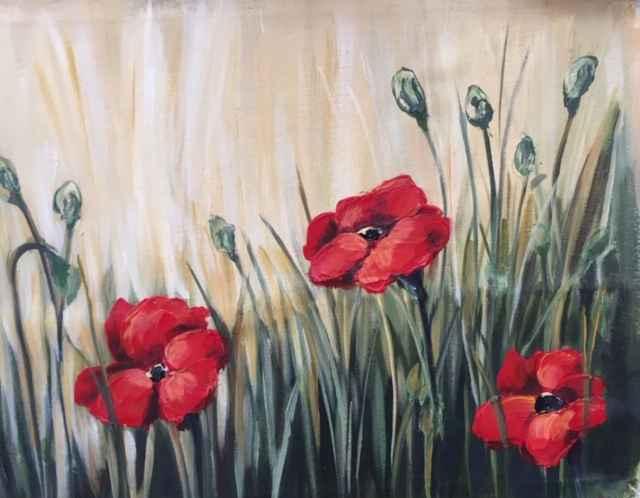 Tuscan Poppies by  Janet Liesemer - Masterpiece Online