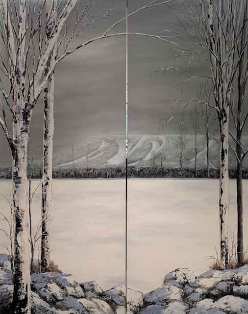 View of Blue (Diptych) by  Janet Liesemer - Masterpiece Online