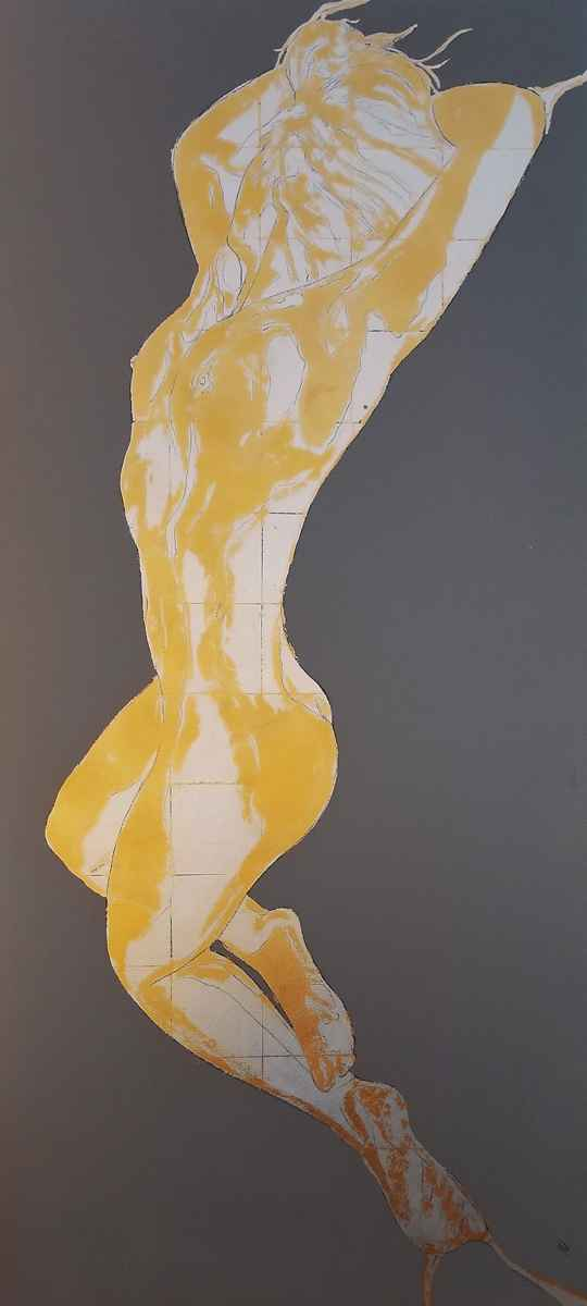 Silver & Gold Nude by Sam Jones IV - TRAGER|contemporary