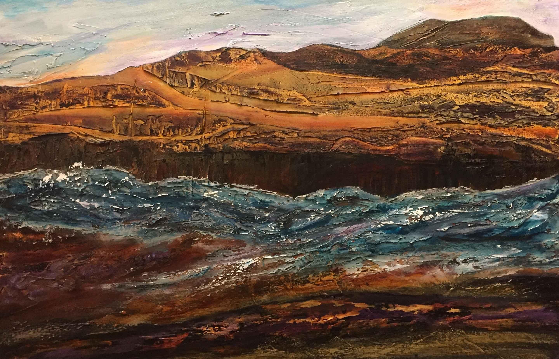 Oak Creek Running by  Marilyn Bos - Masterpiece Online