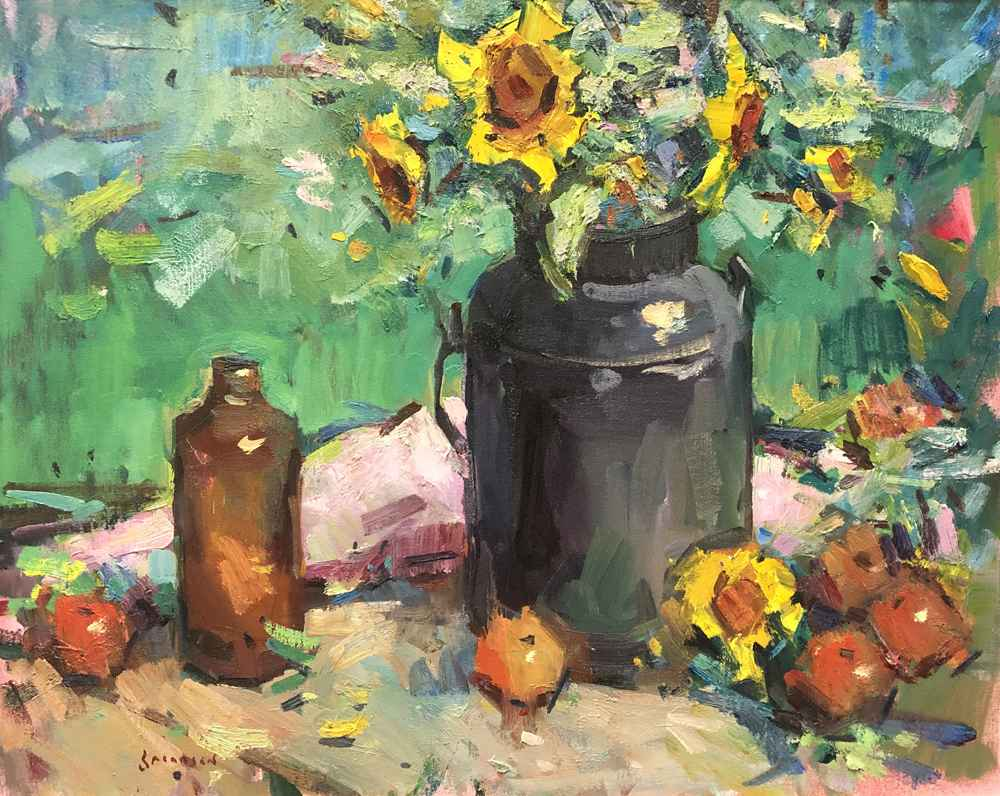 Sunflowers & Apples by  Eric Jacobsen - Masterpiece Online
