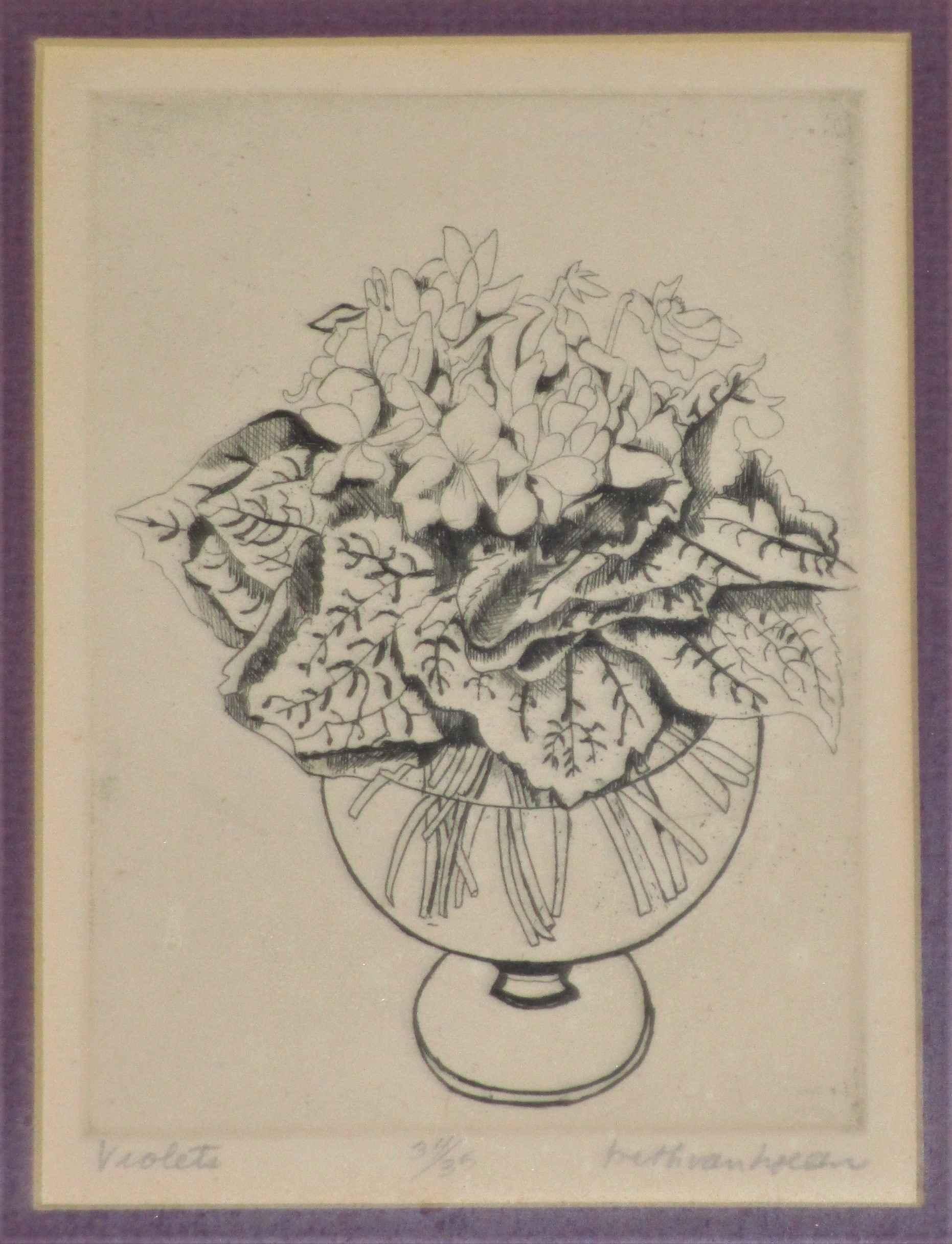 Violets by  Beth Van Hoesen - Masterpiece Online