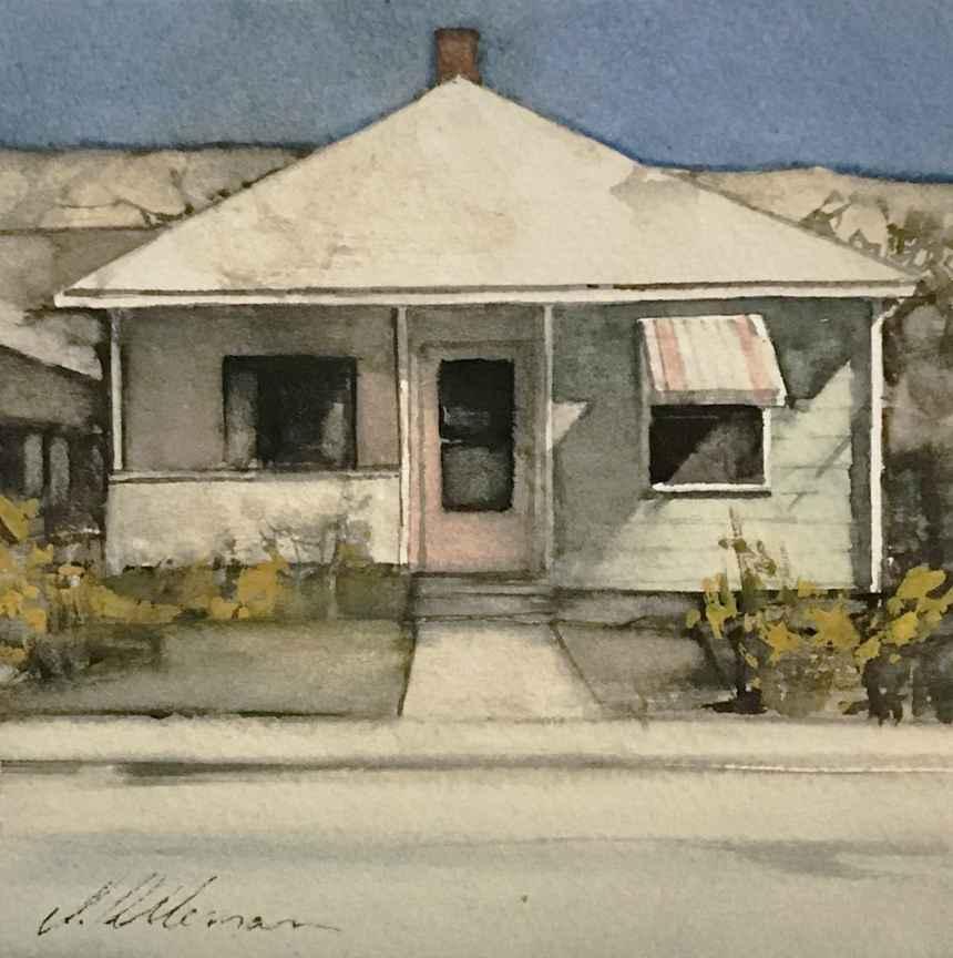 Watercolor Bungalows  by  Joseph Alleman