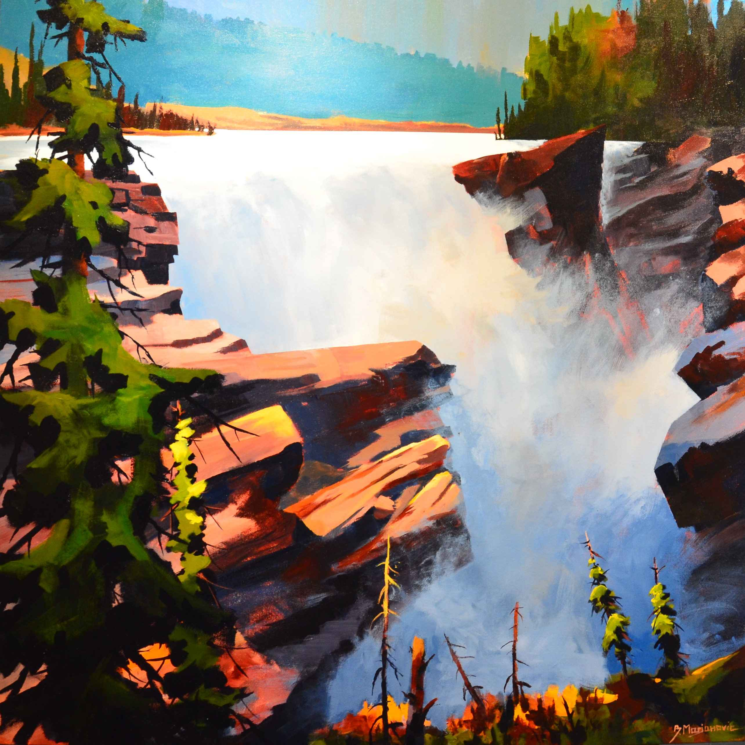 Athabasca Falls by  Branko Marjanovic - Masterpiece Online