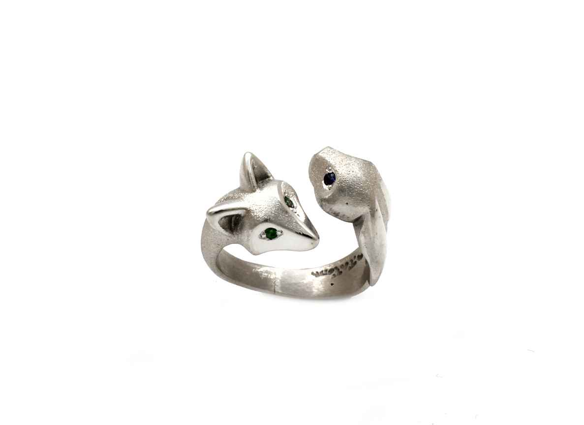 Fox/Bunny Ring With G... by  Michael Tatom - Masterpiece Online