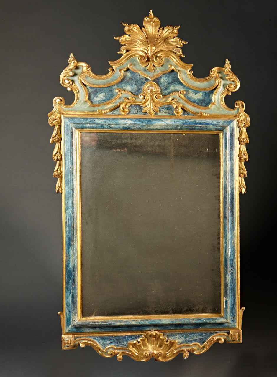 An 18th C Baroque Painted and Gilt Mirror - G. Sergeant Antiques