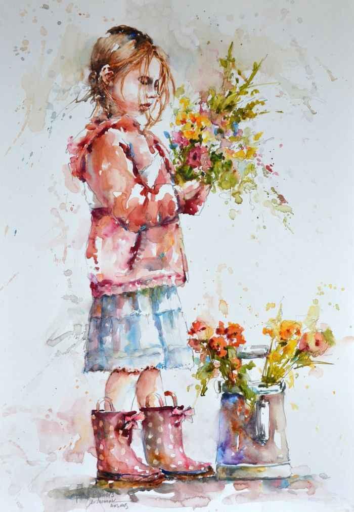 Spring Flowers represented by  by  Bev Jozwiak