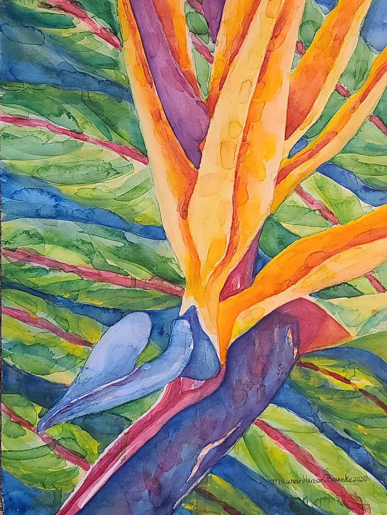 Bird of Paradise 2 by  Maureen Henson-Brunke - Masterpiece Online