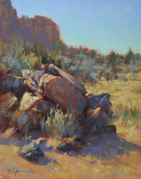 This is Rock Pile at Smith Ro... by  Barbara Jaenicke  art collection of Mockingbird Gallery represented by Mockingbird Gallery from Bend, OR - Masterpiece Online