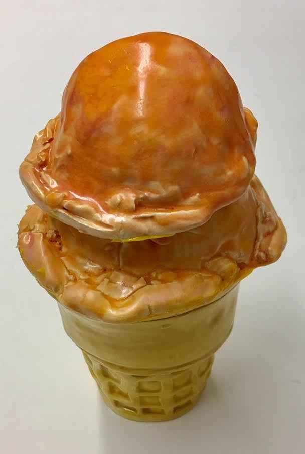 Double Peach Ice Cream  by  Jeff Nebeker