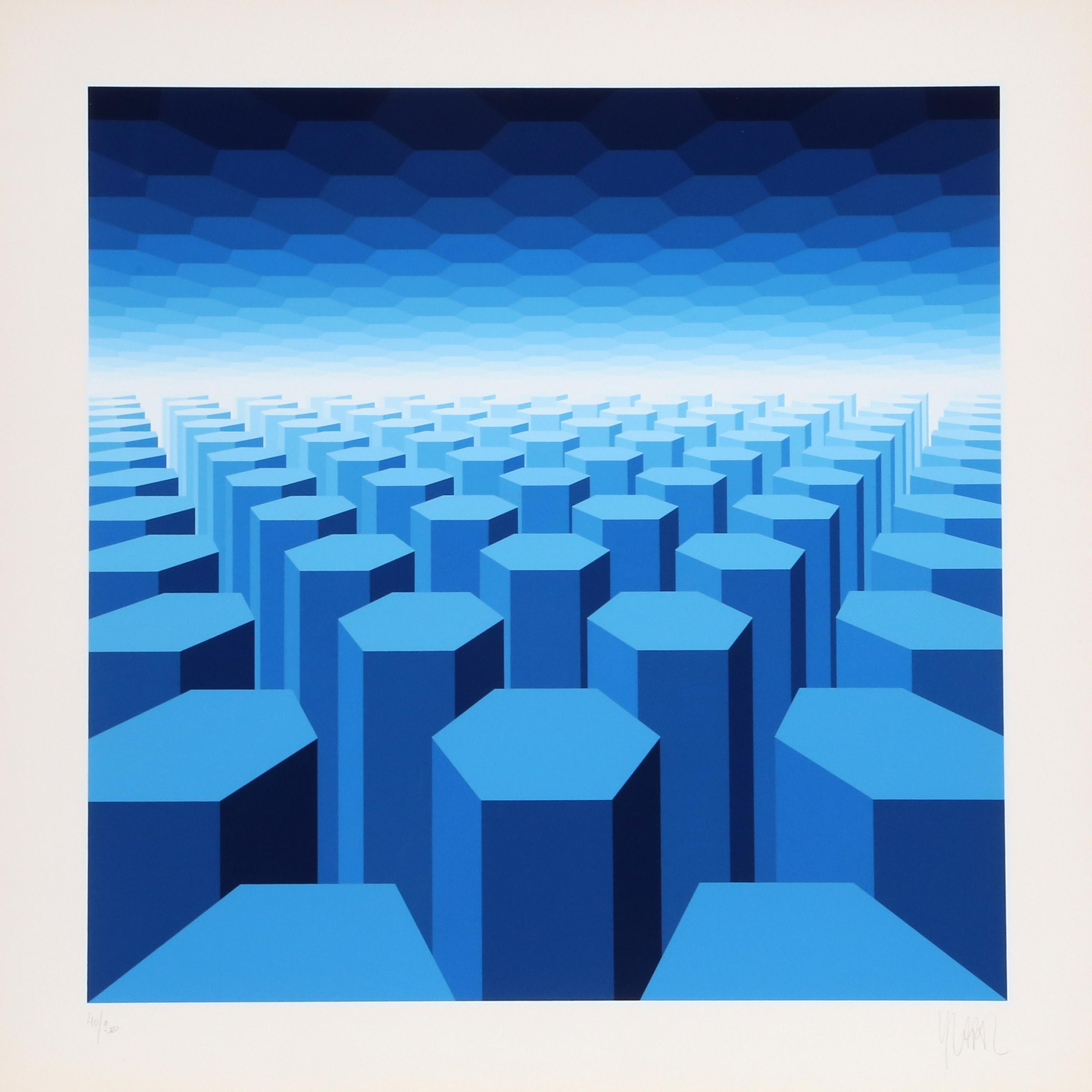 50 Shades of Blue by  Jean Pierre Vasarely - Masterpiece Online