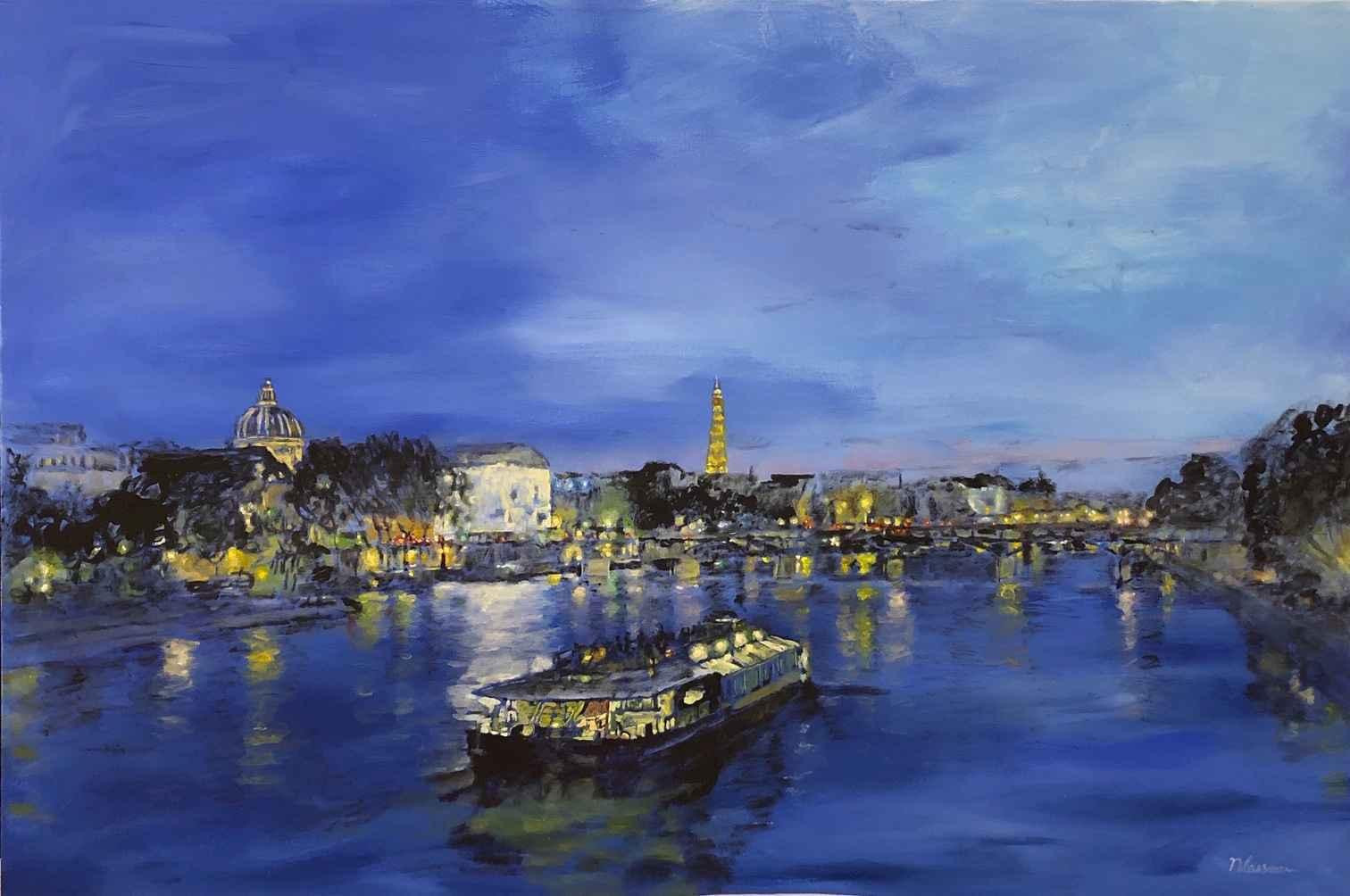 Dreamy Night In Paris by  Nadia Lassman - Masterpiece Online