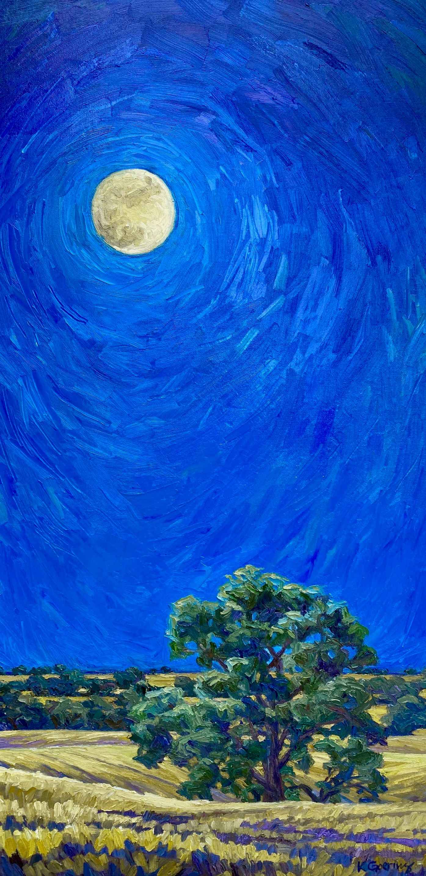 Late Summer Moonrise by  Kristin Goering - Masterpiece Online
