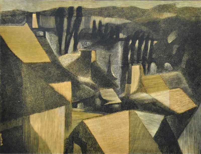 Peupliers (1969) by  Bernard Brussel-Smith (1914-1989) - Masterpiece Online