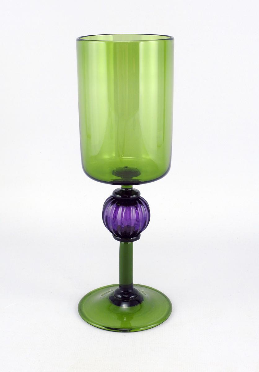 Goblet/Olive & Purple by  Josh Bernbaum - Masterpiece Online