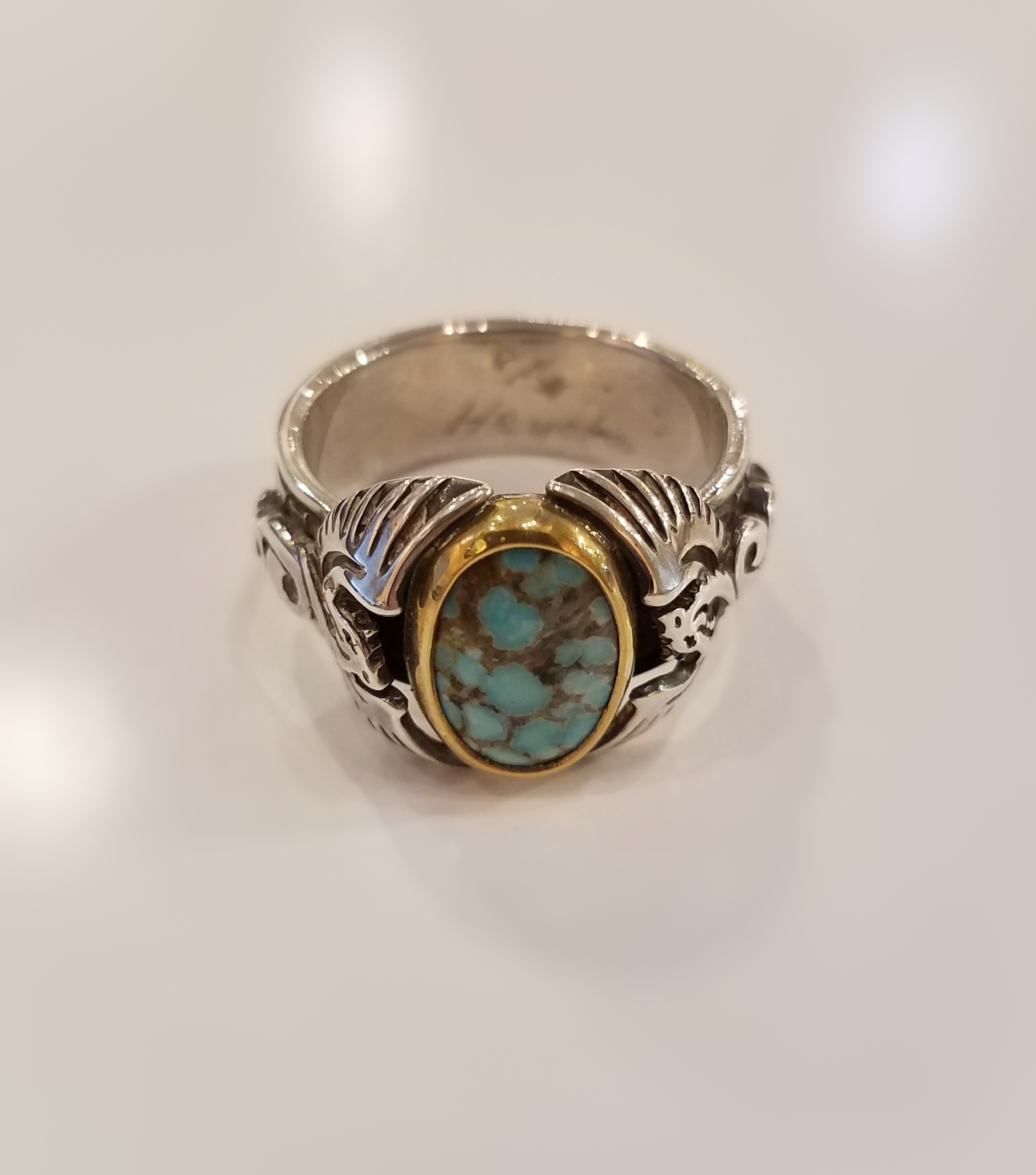 Turquoise Dragon Ring by  Heyoka Merrifield - Masterpiece Online