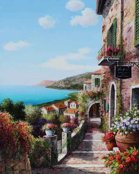 View Over the Rooftops by  Soon Ju Choi  - Masterpiece Online