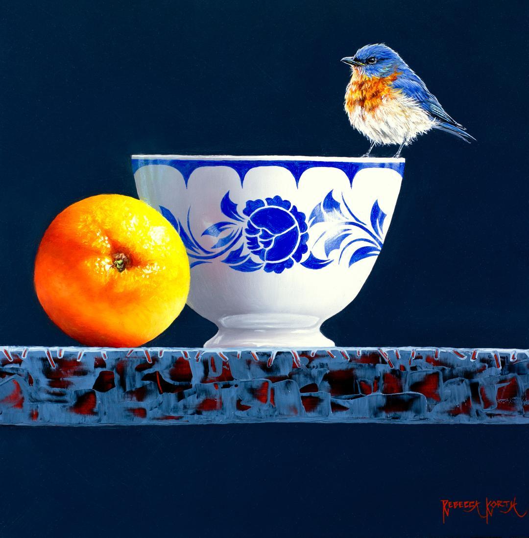 Eastern Bluebird on Bowl