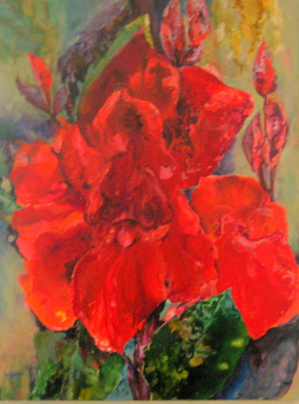 Red Canna by Ms. Tracey Williams - Masterpiece Online