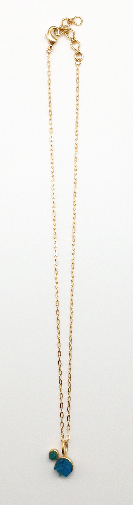 Crystal Double Round Pendant 16