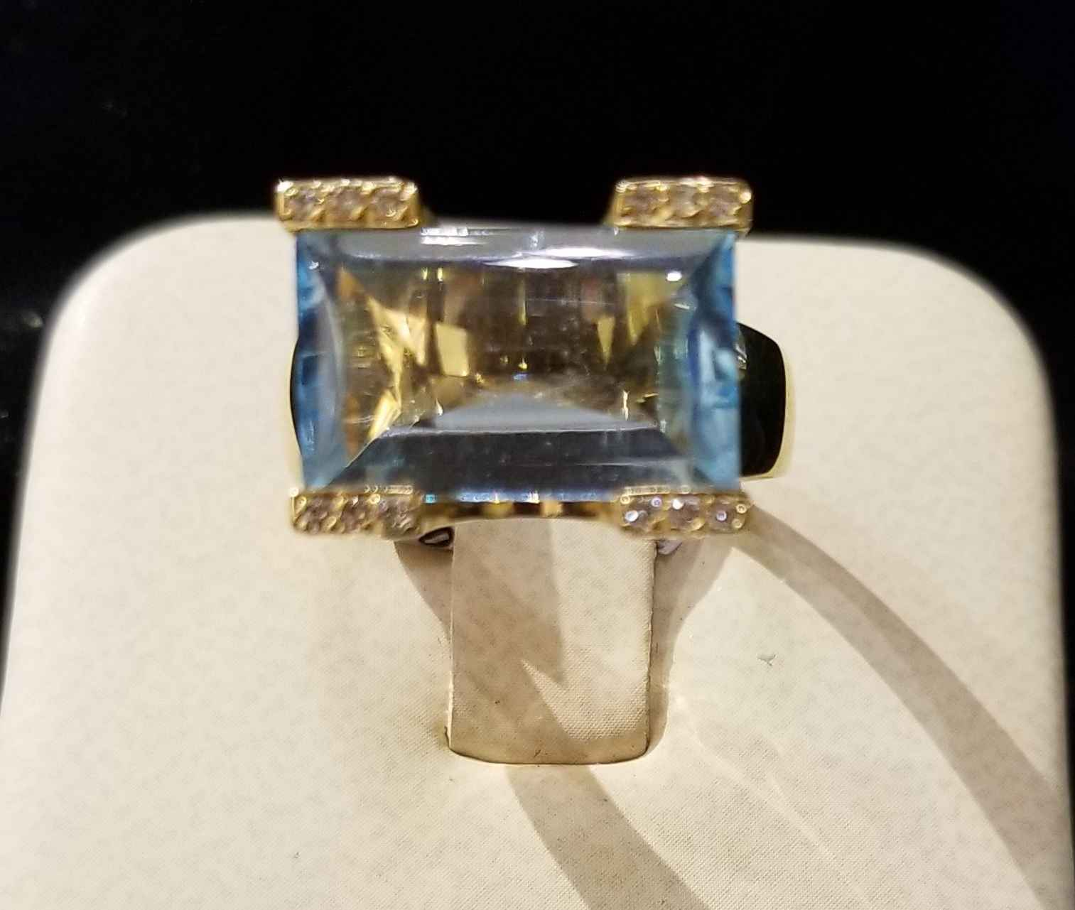 Bue Topaz Ring - YG by  My Jeweler - Masterpiece Online