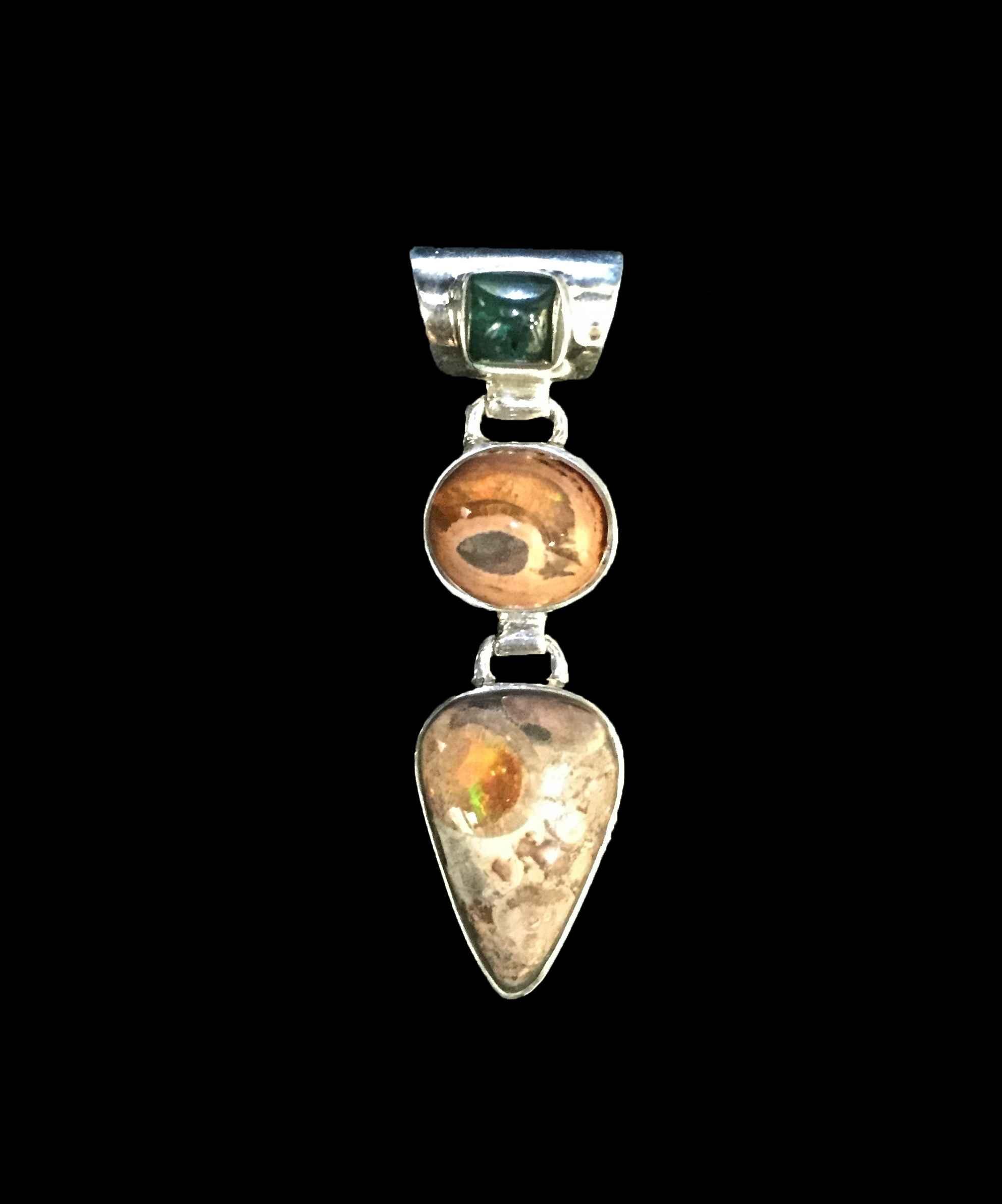 Raw Opal & Emerald Pe... by  Dee Winkelstern - Masterpiece Online