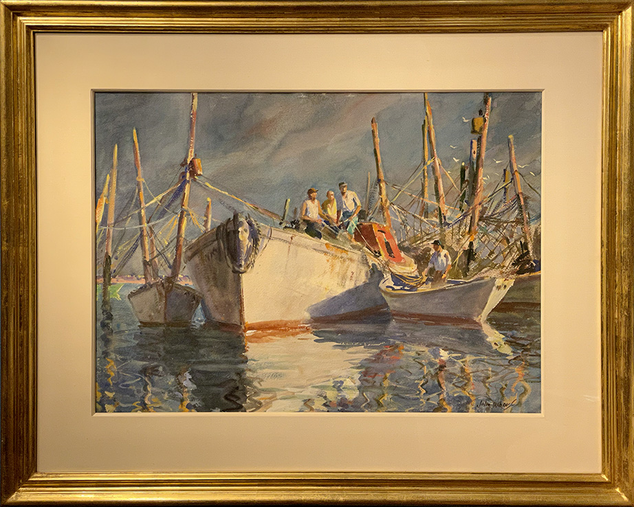 White Boat by  John Whorf - Masterpiece Online