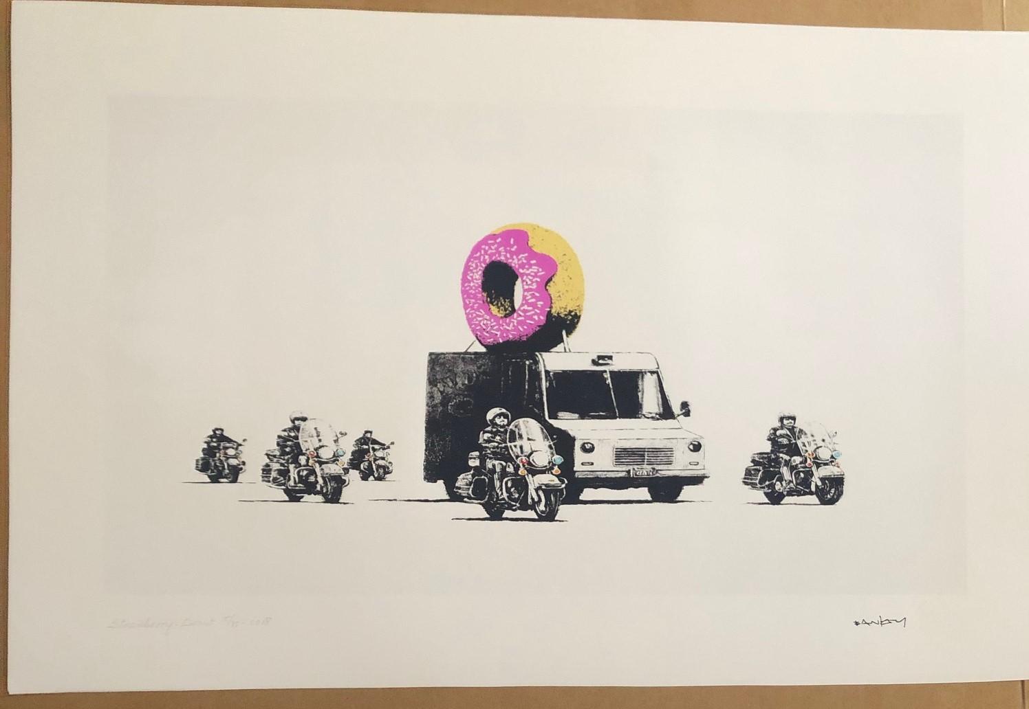 Strawberry Donut by   Banksy - Masterpiece Online