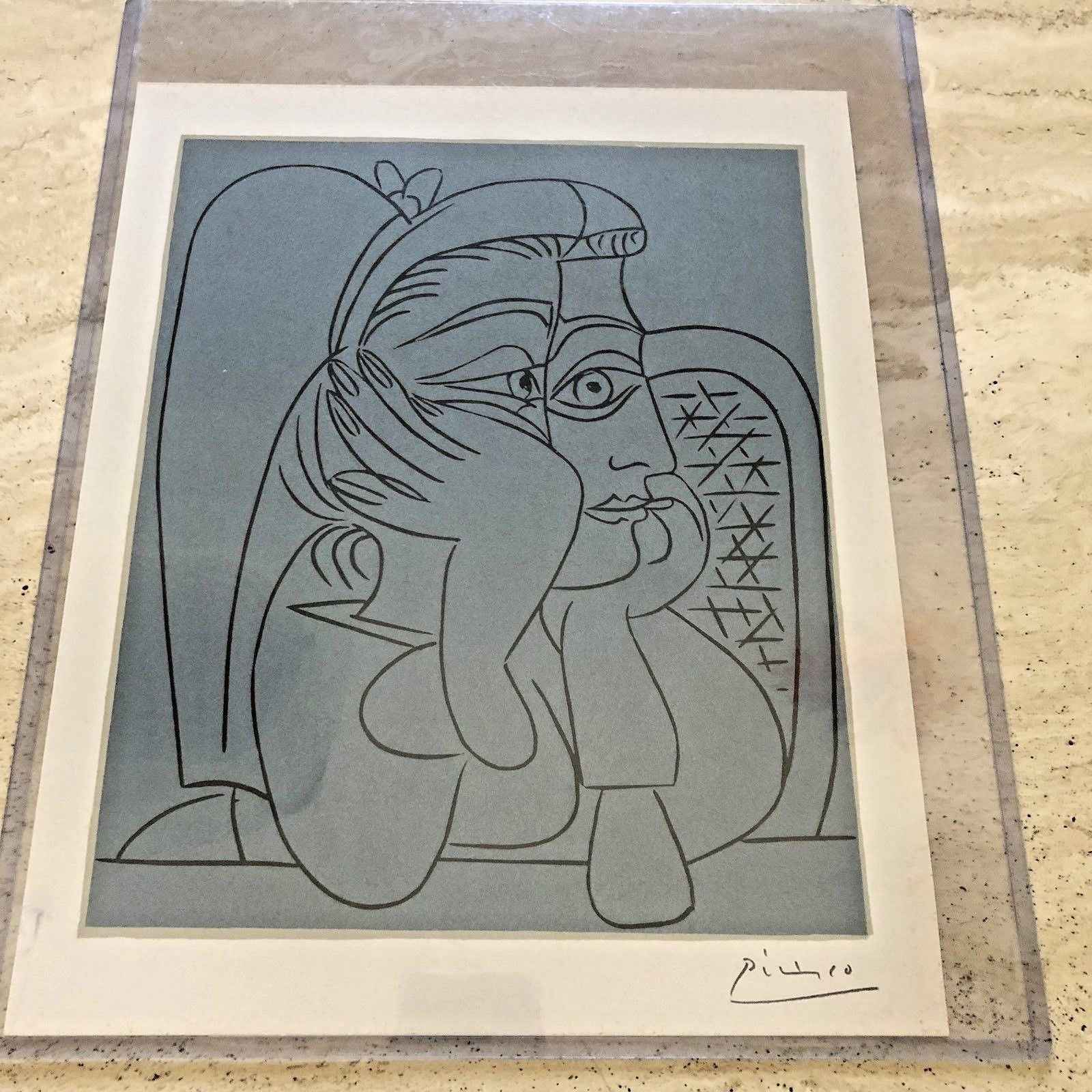 Female Head with Supp... by  Pablo Picasso - Masterpiece Online