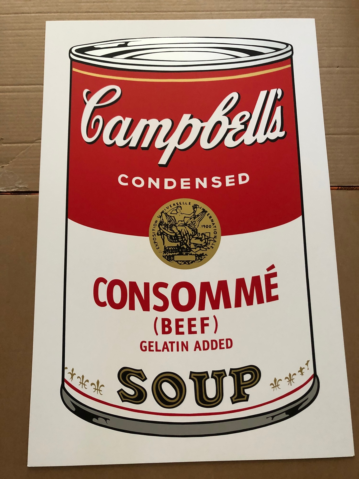 Campbell's Soup - Con... by  Andy Warhol - Masterpiece Online