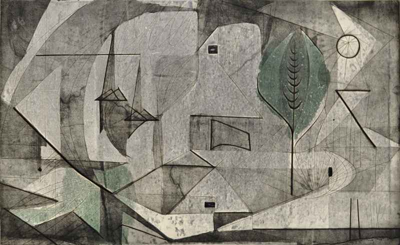Collonges (abstract) ... by  Bernard Brussel-Smith (1914-1989) - Masterpiece Online