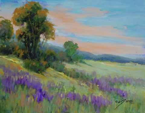 Sunset Lavender by  Eva Szorc - Masterpiece Online
