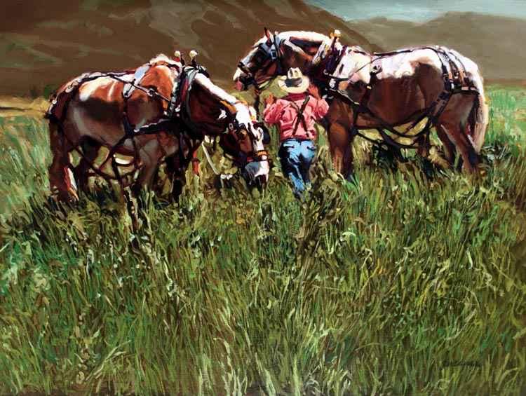 A NEW WORK- Mountain... by  Glen Edwards - Masterpiece Online