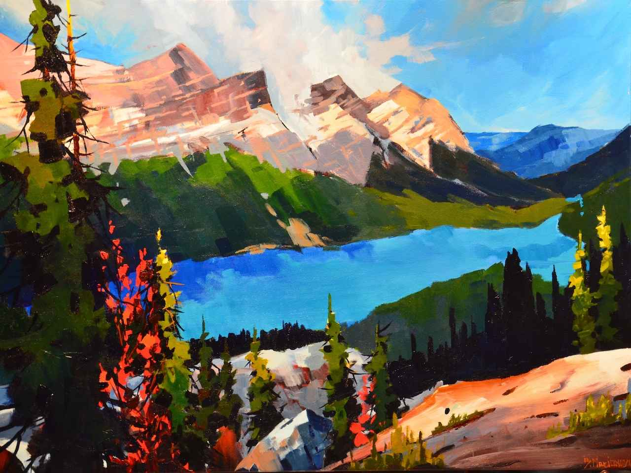 Peyto Lake Blue by  Branko Marjanovic - Masterpiece Online