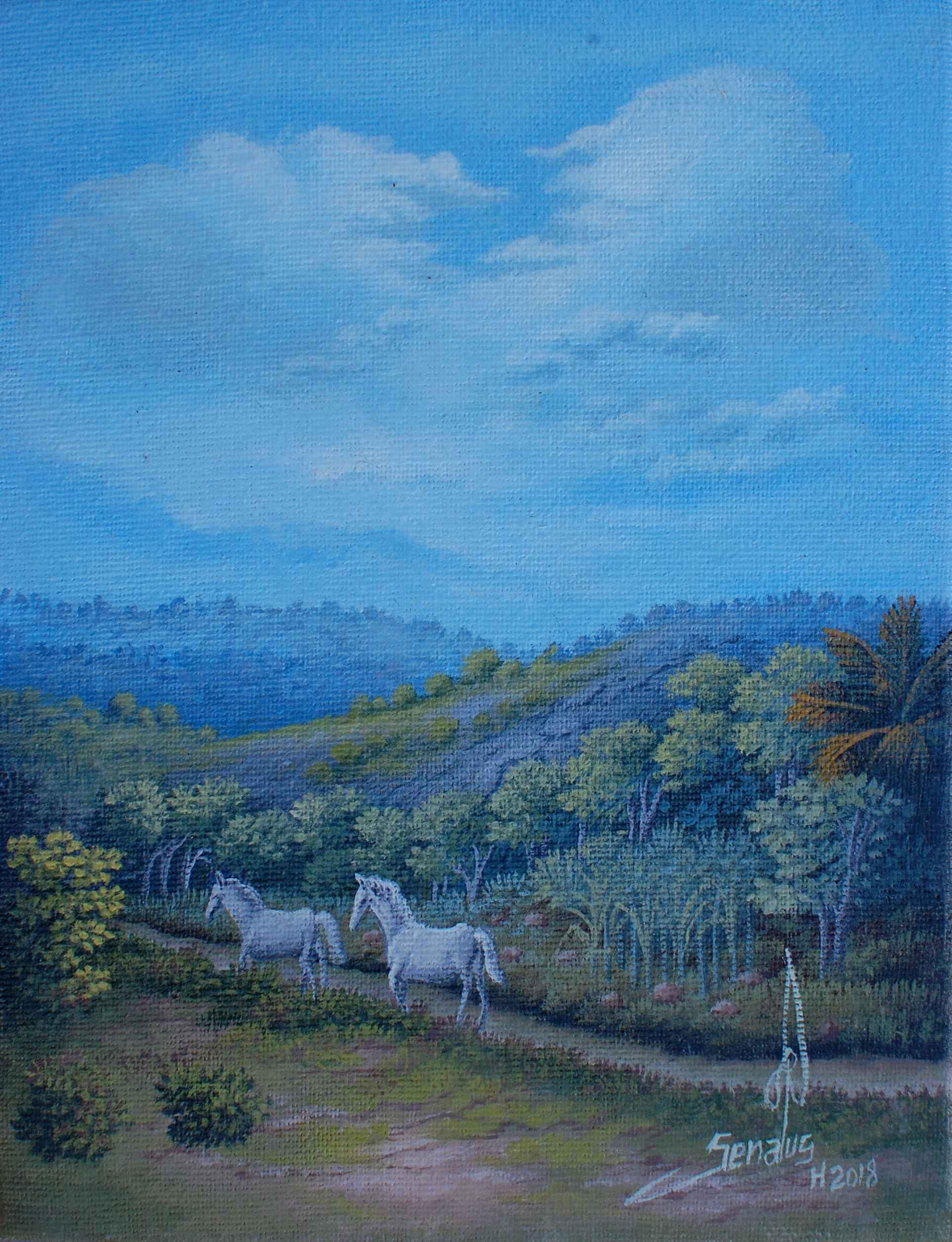 Horses by  Jean-Louis SENATUS - Masterpiece Online