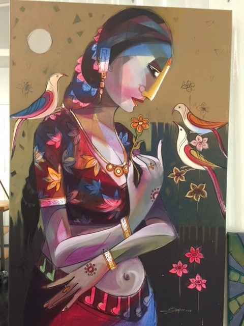 Untitled Painting V by  Simpee Pratap - Masterpiece Online
