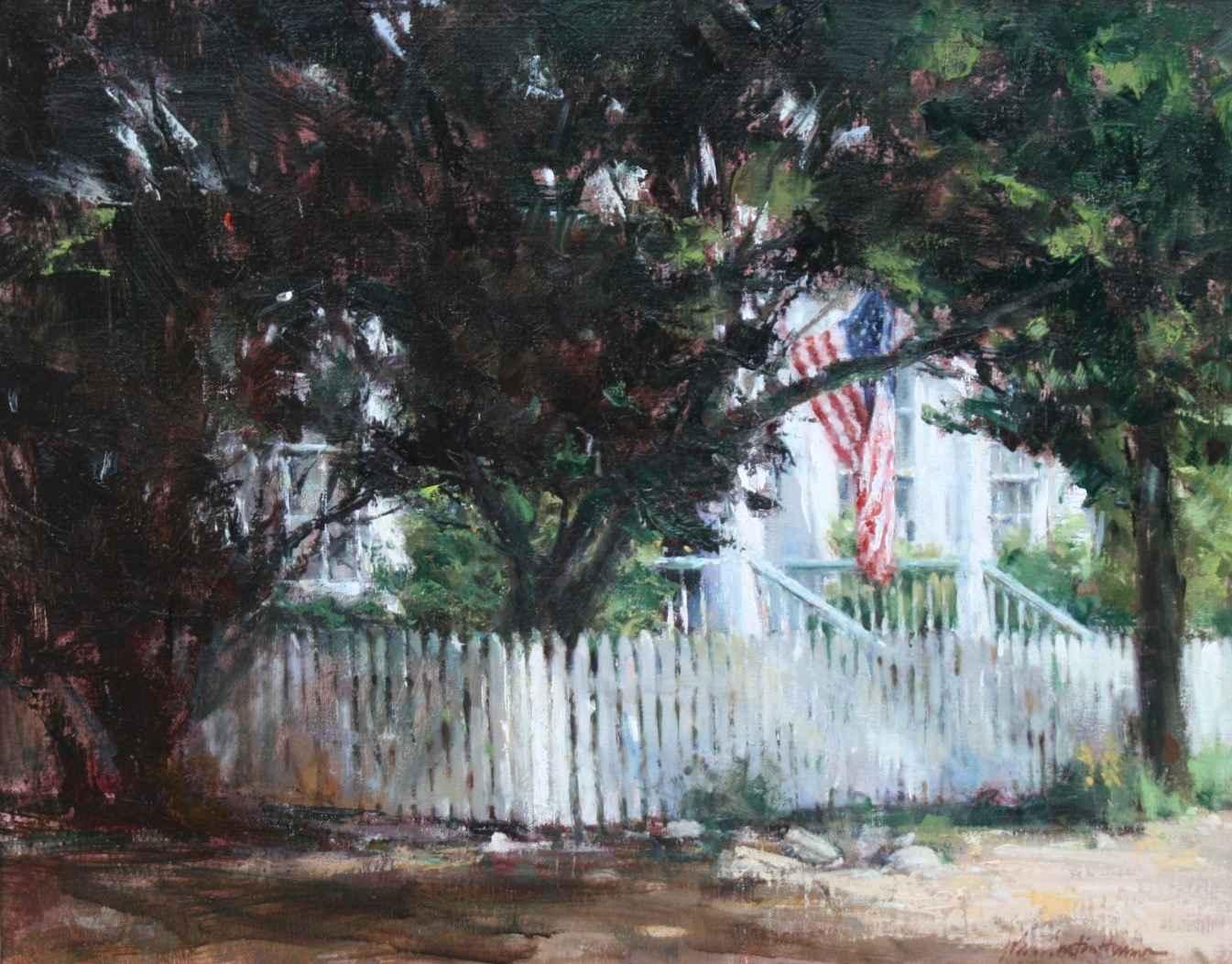 Red, White & Blue in ... by  John Austin Hanna - Masterpiece Online
