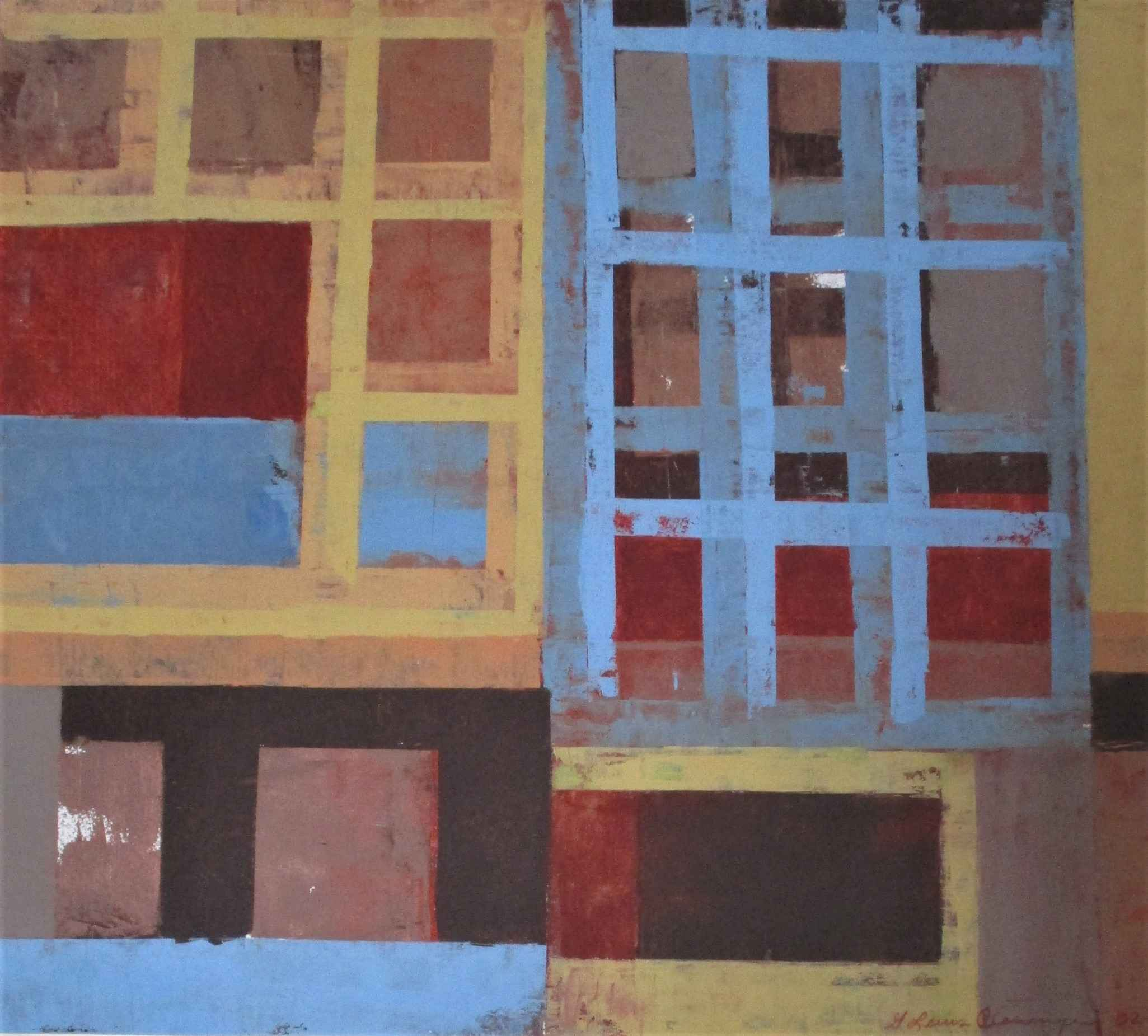 Untitled (blue grid) by  Glenn Lewis Clevenger - Masterpiece Online