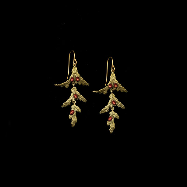 Holiday Arbor Dangle Wire Earrings
