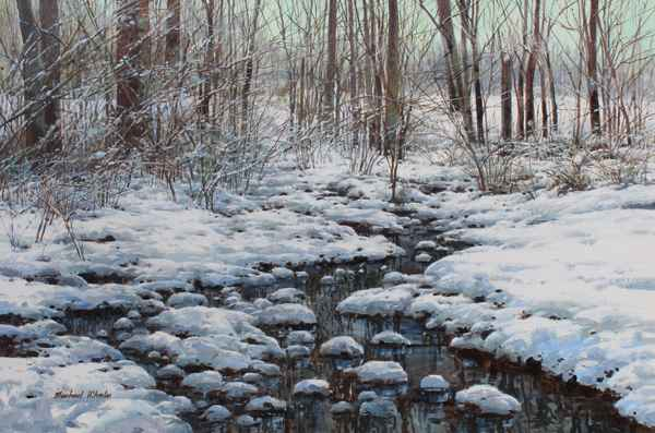 Wet Snow and Slow Cre... by  Michael Wheeler - Masterpiece Online