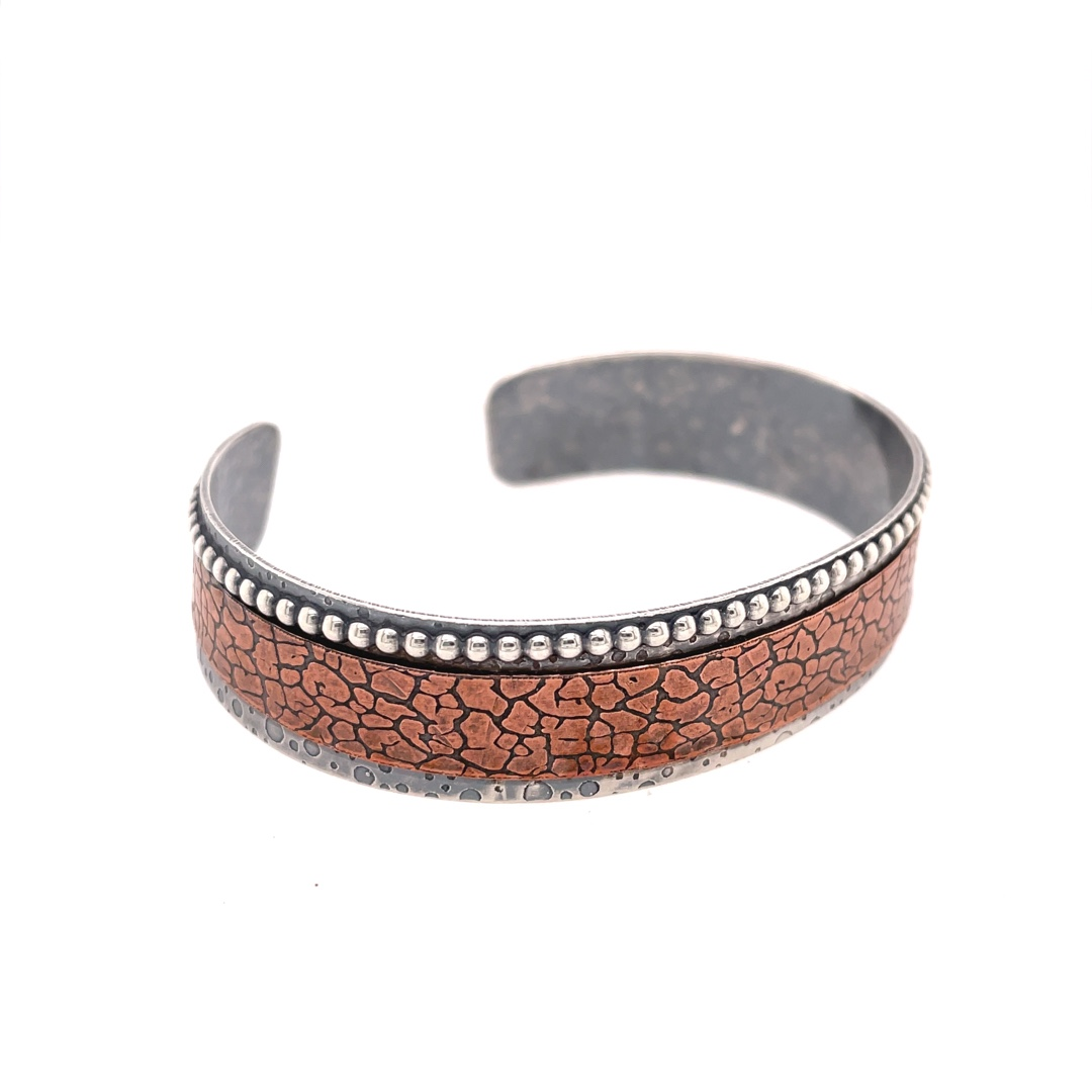 Sterling Silver and Copper Cuff