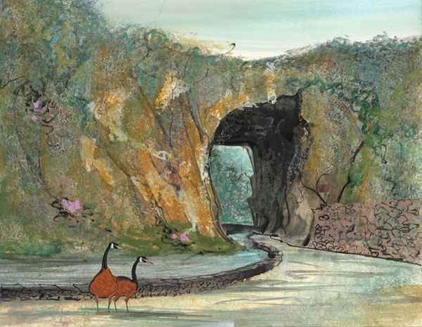 DP-NATURAL BRIDGE VIS... by  P. Buckley Moss  - Masterpiece Online