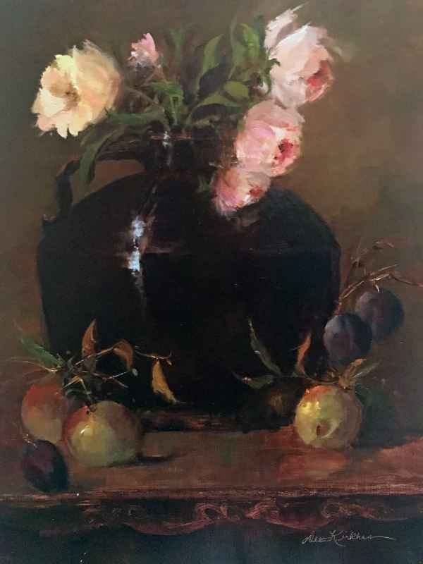 Pink Roses and Plums by  Dee Kirkham - Masterpiece Online