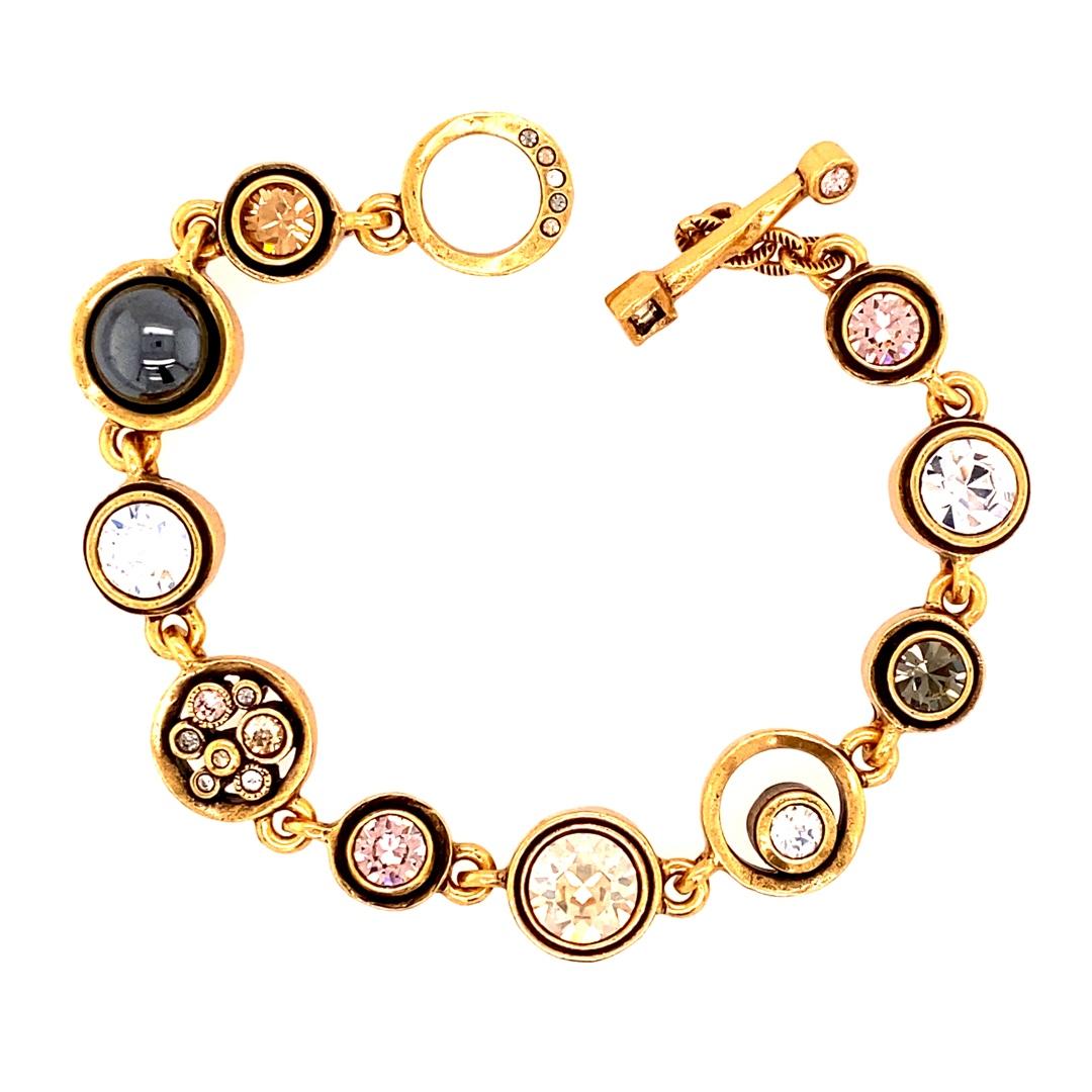 Dotty Bracelet in Gold, Champagne