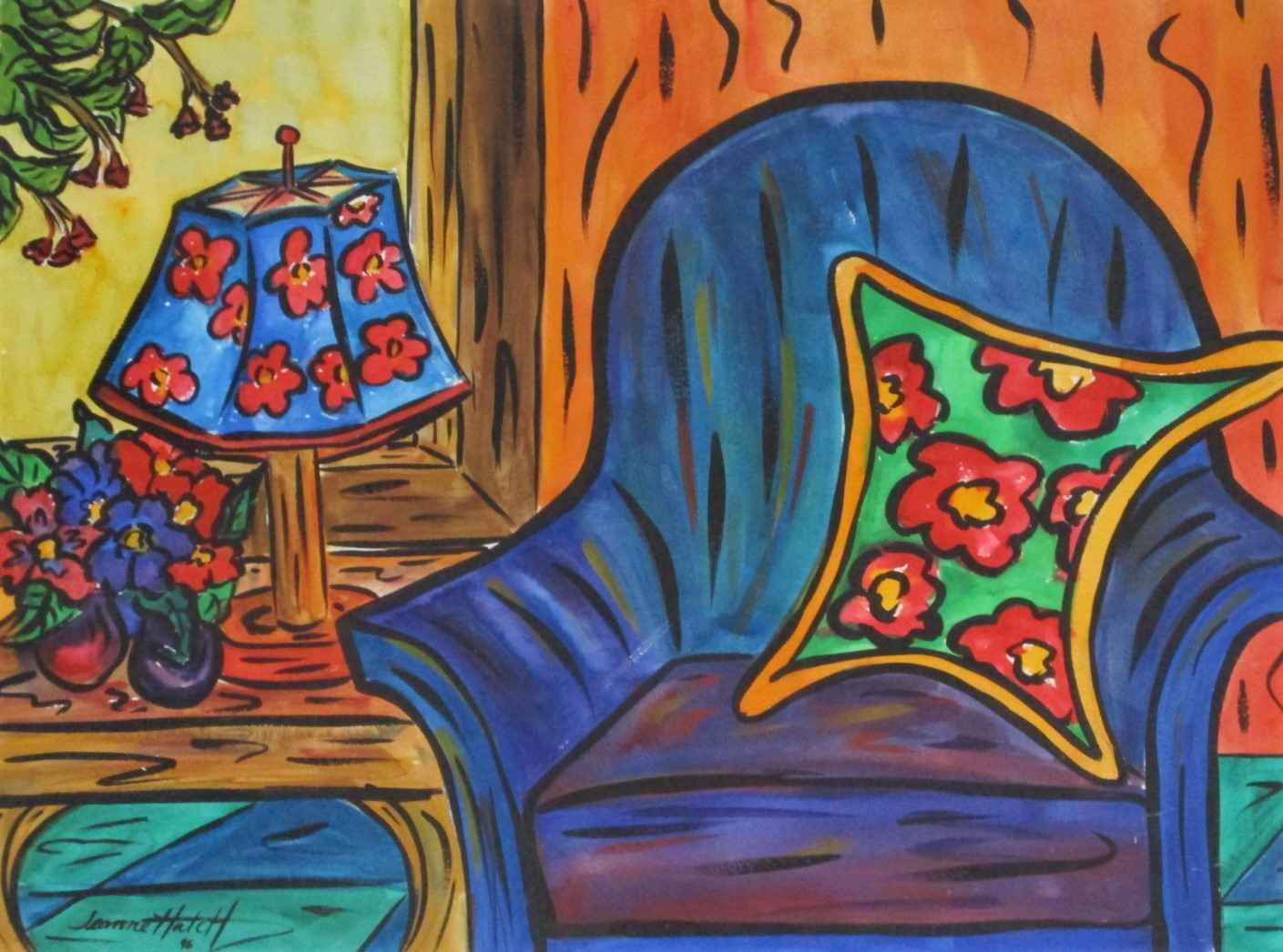 Untitled (blue chair) by  Jeannie Hatch - Masterpiece Online