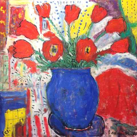 Red Tulips by  Andres  Morillo - Masterpiece Online